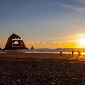 Haystack Winter Sunset