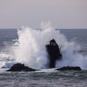 Stormy Wave Crash Oregon Coast