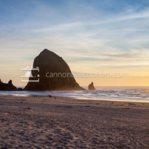 Haystack Rock Golden Lighting