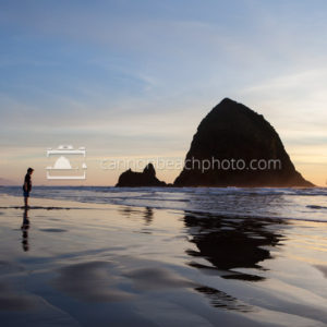 Child on the Edge of Haystack Rock