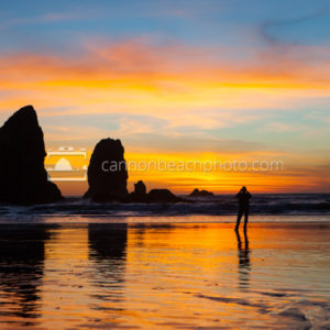Snapshot of Sunset, Needles in Cannon Beach