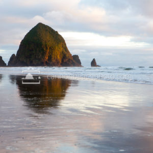 Afternoon Sunlight on Haystack Rock