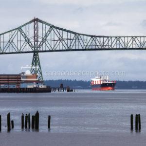 Astoria Bridge and Cargo Ship, Horizontal