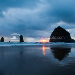 Haystack Rock May Blues and Sun Break