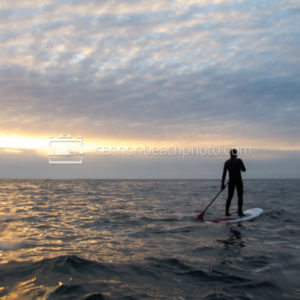 Paddleboarding on the Pacific Ocean