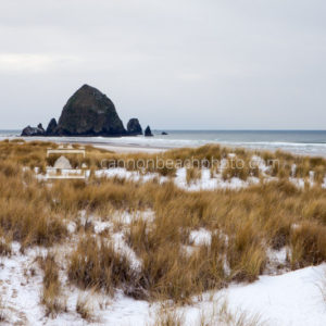 Snow on the Beach – Cannon Beach, Oregon