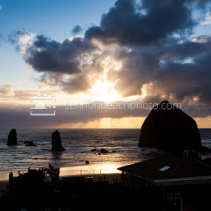 Sun Break and Clouds, Cannon Beach