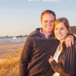 Young Couple Smiling in Sunset Light