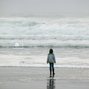 Young Girl Watching the Waves