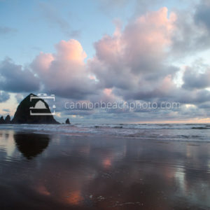 April Storm Clouds at Sunset, Cannon Beach