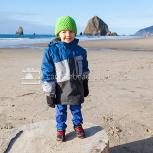 Ethan Smiling on the Beach