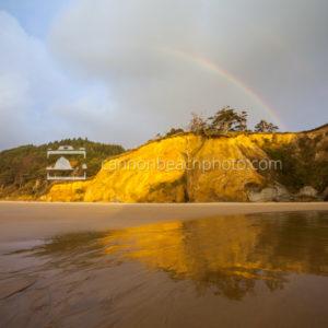 Rainbow Over Hug Point Cliffs