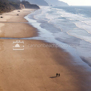 Arcadia Beach with Two Figures