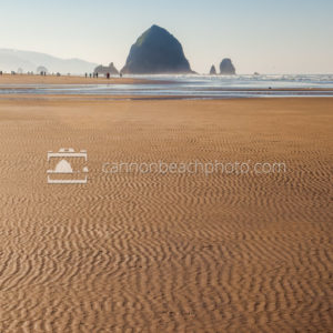 Rippled Sand Texture with Haystack Rock