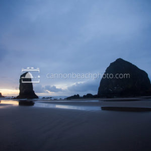 After Sunset, Haystack Rock, Oregon Coast