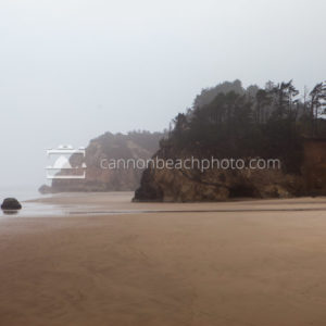 Foggy View of Hug Point at Low Tide