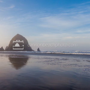 Sunny Winter Morning at Haystack Rock, Horizontal