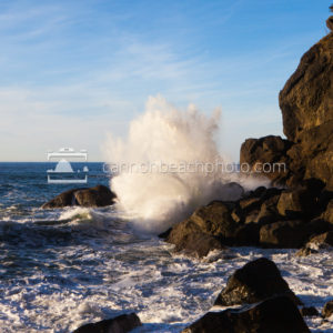 Wave Crash on the Oregon Coast
