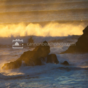 Backlit Waves, Oregon Coast