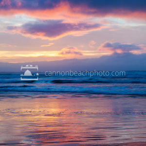 Reflective Sunset Skies