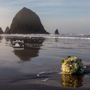 Wedding Bouquet with Haystack Rock 1