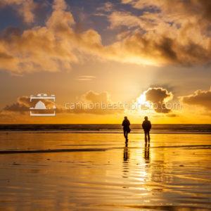 Beach Stroll with Golden Sunset 2