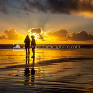 Beach Stroll with Golden Sunset 3