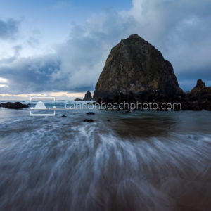 Evening Tide Change, Haystack Rock