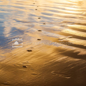 Liquid Sunset with Footprints, Vertical