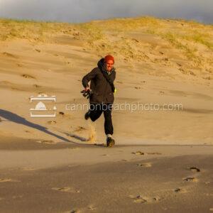 Keaton Running down the Dunes
