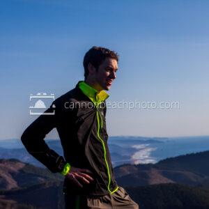 Man on Overlook, Angora Peak