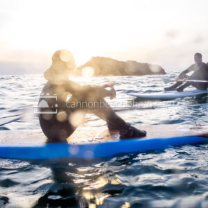 Paddleboarder's Relaxing