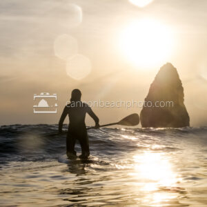 Sunset Paddleboard in Cannon Beach