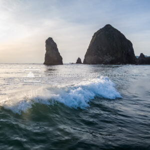 Surfing at Haystack Rock 2