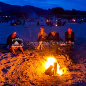 Beach Bonfire Group, Evening Time