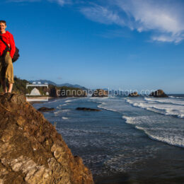 Couple Smiling at Ecola State Park