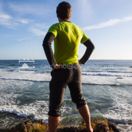 Epic Stance Overlooking the Pacific
