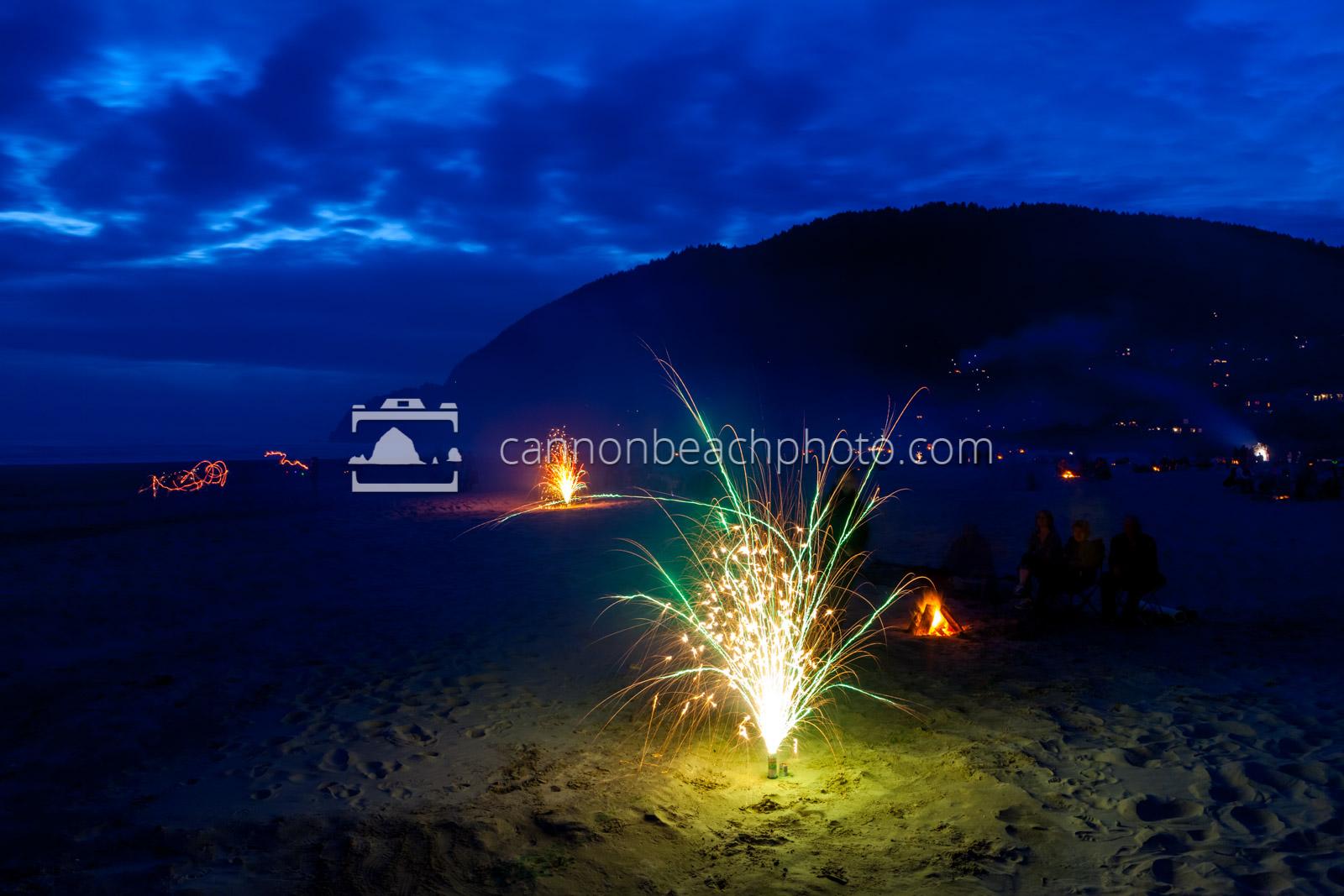 Fireworks at Manzanita
