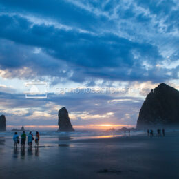 Dramatic Skies at Haystack Rock