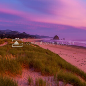 Purple Skies at Sunset, Cannon Beach