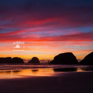 Vibrant Colors Over Cannon Beach, Oregon