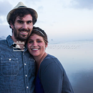 Couple Smiling in Cannon Beach 1
