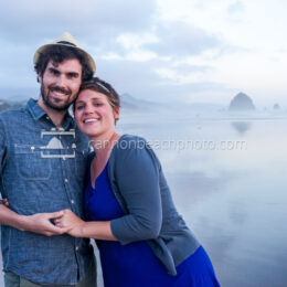 Couple Smiling in Cannon Beach 2