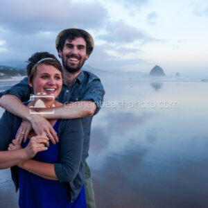 Couple Smiling in Cannon Beach 3