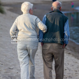 Elderly Couple Walking near Ecola Creek