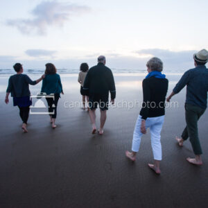 Family Walking to the Pacific Ocean 1