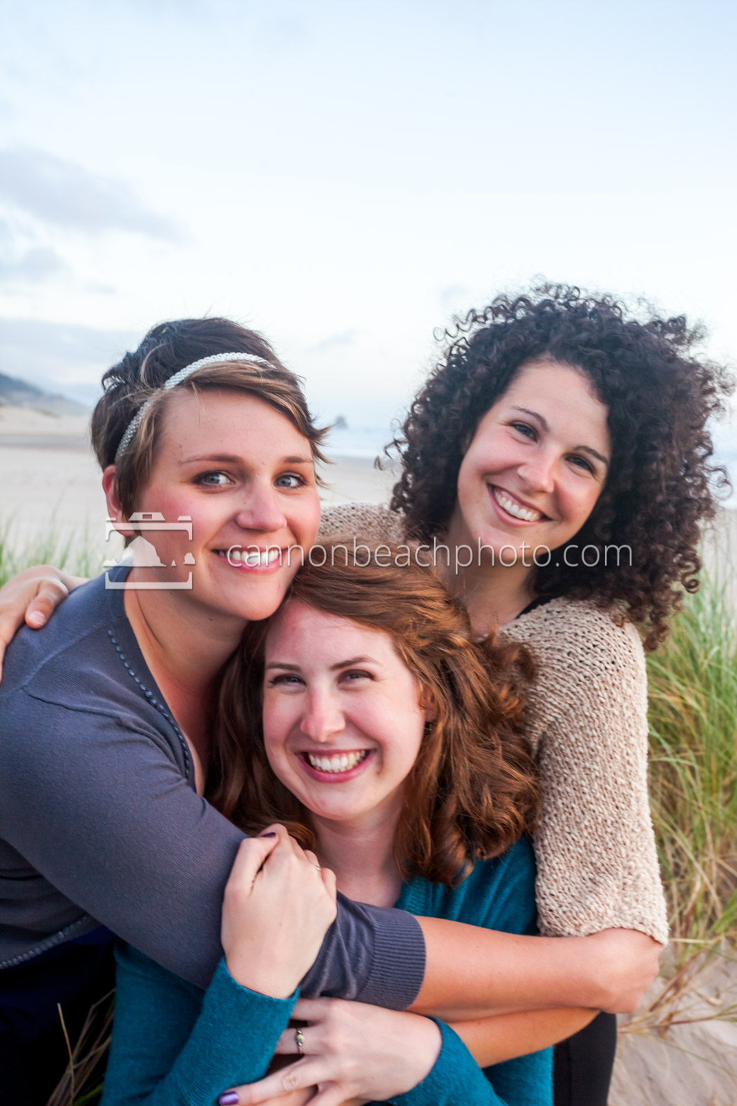 Women Smiling on the Beach