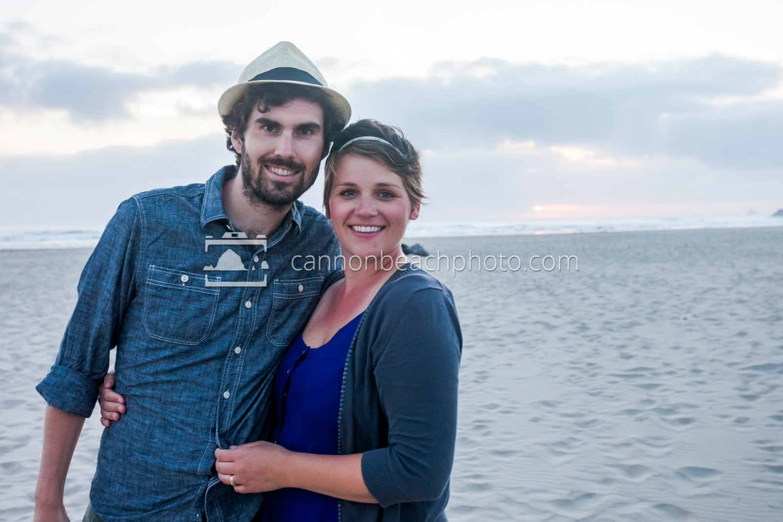 Young Couple Smiling on the Beach