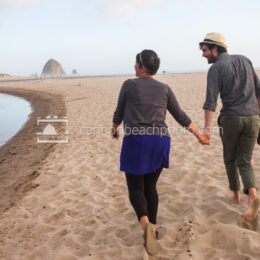 Young Couple Walking Hand in Hand 2
