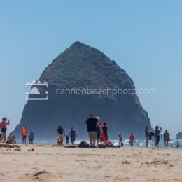 Busy Summer Day in Cannon Beach